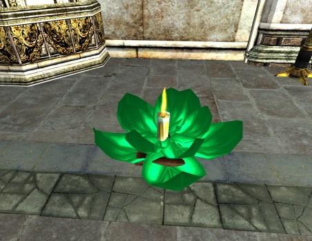 Green Floating Lantern – Open