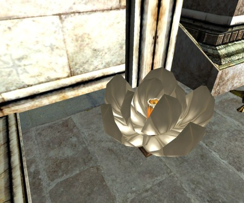 White Floating Lantern – Half-Open