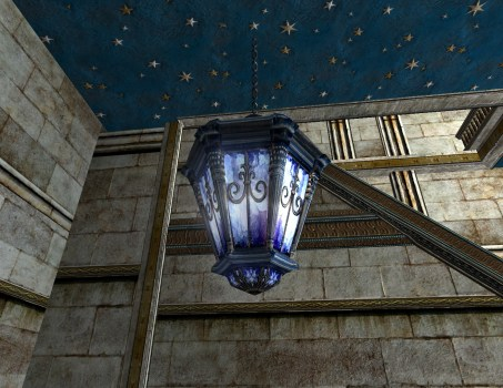 Azure Hanging Lantern