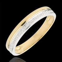 Wedding Ring Elegance - Yellow gold and white gold - 9 ...