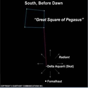 Delta Aquarid meteors peak around now  Tonight  EarthSky