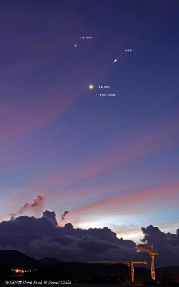 Venus and Jupiter Seen From Earth