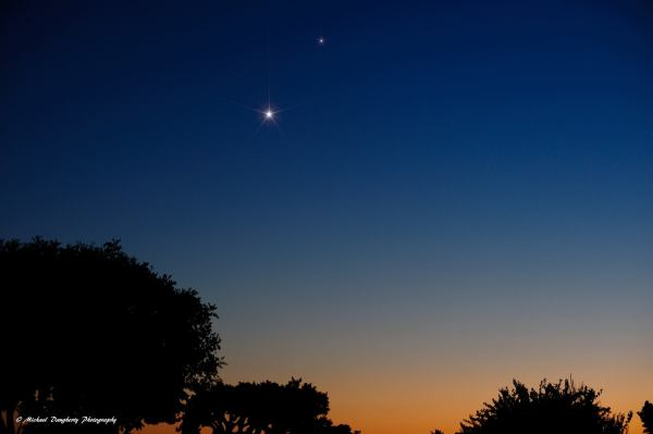 Venus and Saturn Seen From Earth