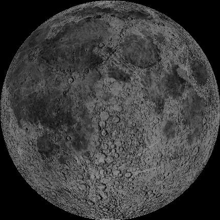 Simulated image of today's new moon (2014 January 30 at 21:38 UTC) via Earth and Moon Viewer