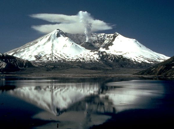 Mount St. Helens photographed two years after the 1980 eruption. Image Credit: Lyn Topinka, U.S. Geological Survey.