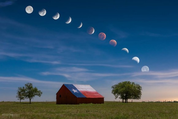 Mike Mezeul II shared this great eclipse pic at EarthSky Facebook.  Read more about this image.