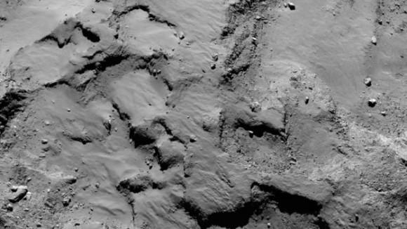 Philae's primary landing site – mosaic. Image credit: ESA