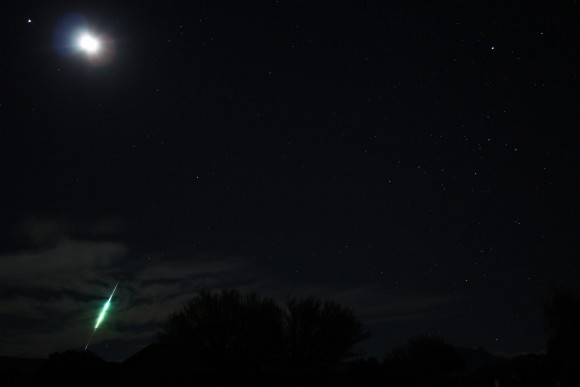 Dick Dionne in Green Valley, Arizona caught this bright Taurid fireball on November 15, 2014.  Many reported fireballs in early November this year!