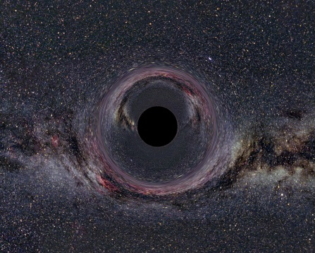 Artist's impression of a black hole, via Icarus