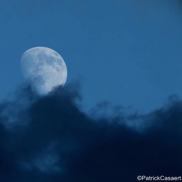 Patrick Casaert – whose community on Facebook is called La Lune The Moon – used a blue filter to capture this shot of the moon on July 27, 2015.