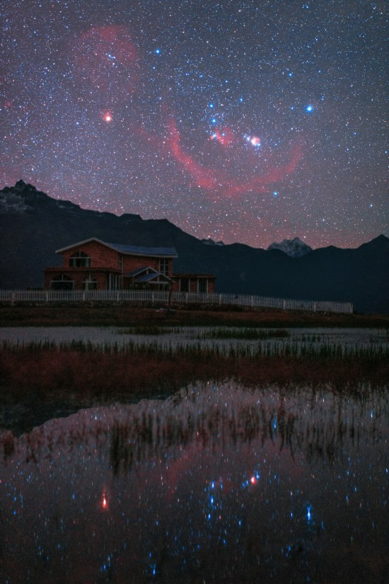 Orion rising over Tibet. Gyirong Valley, Tibet, China. As you know ...