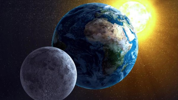 The location of the sun with respect to the moon determines the moon phase in your night sky.  Image via Ask.com