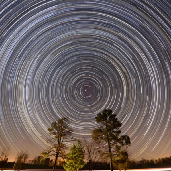 Ken Christison captured these glorious star trails around Polaris, the North Star.  He wrote,