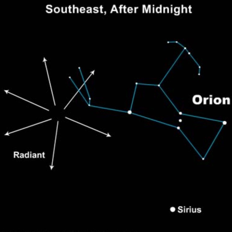 Orionid meteor shower this weekend  Tonight  EarthSky
