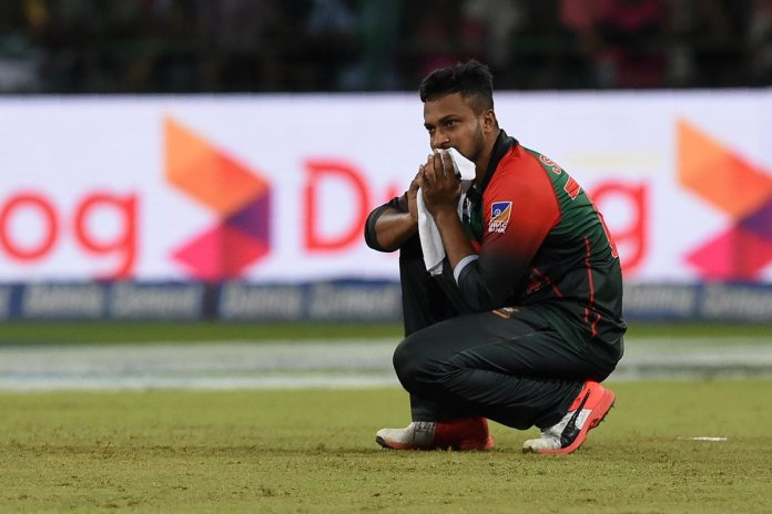 Shakib Al Hasan out of action for 3 months