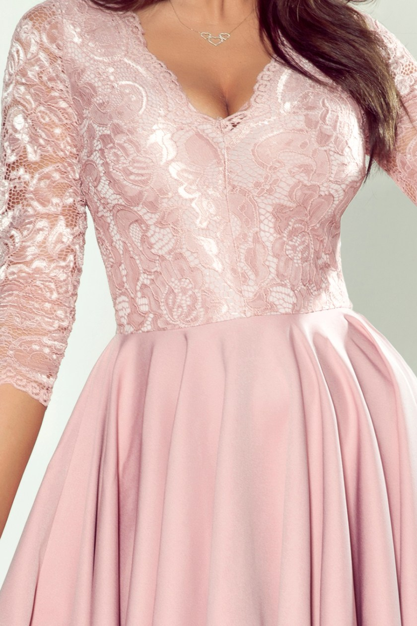 cocktail dress nude front -