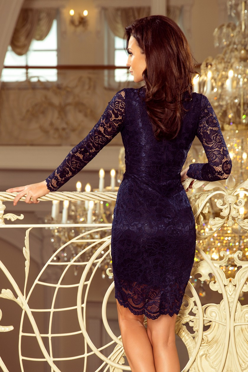 lace navy back -