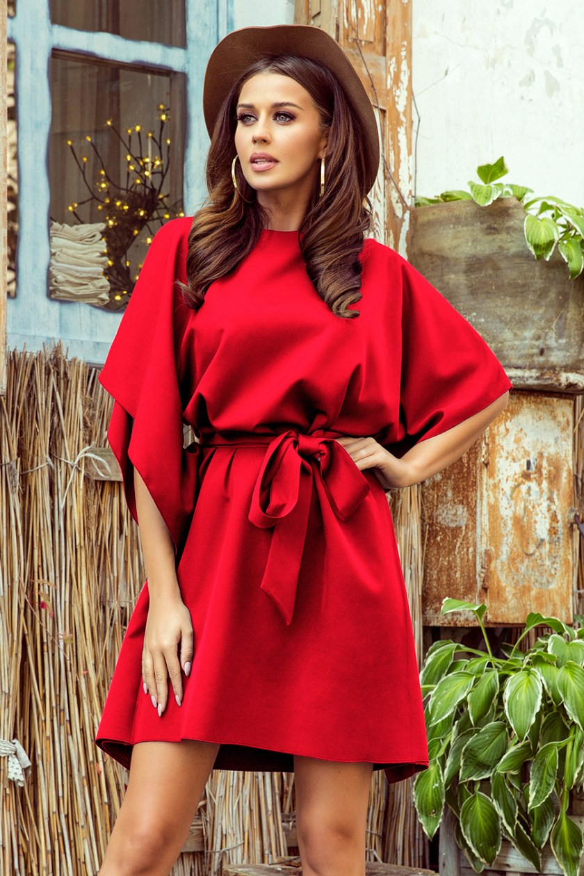 Lorenn Red Butterfly Dress