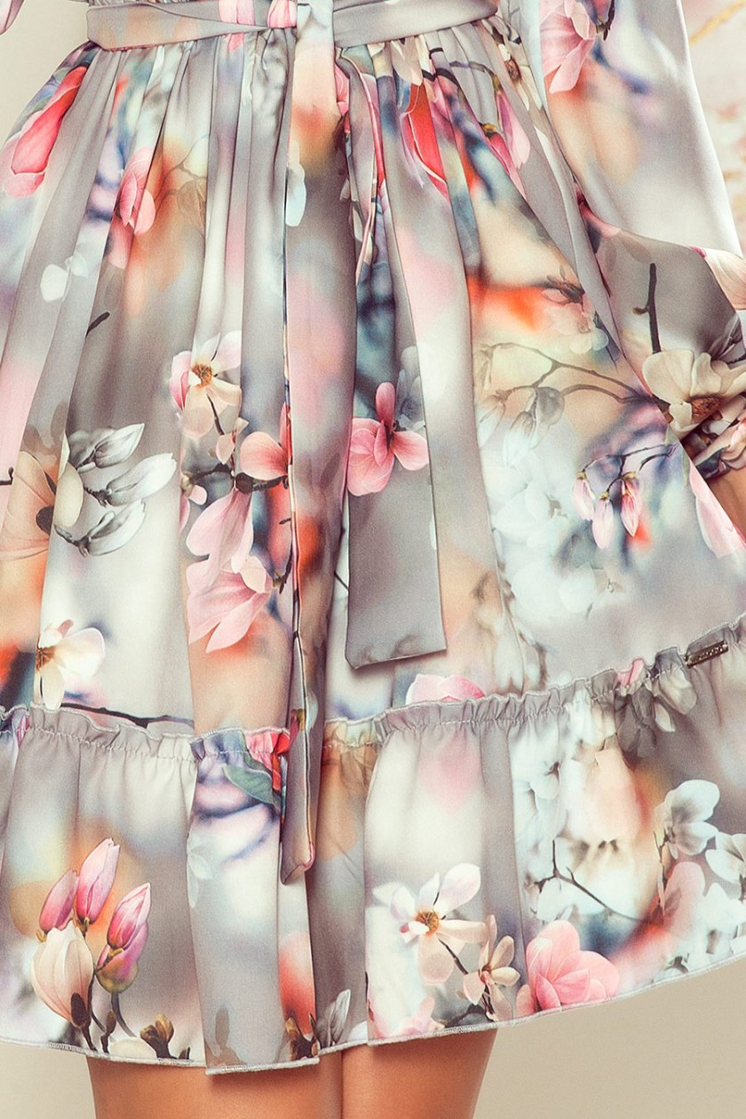 floral dress white detail -
