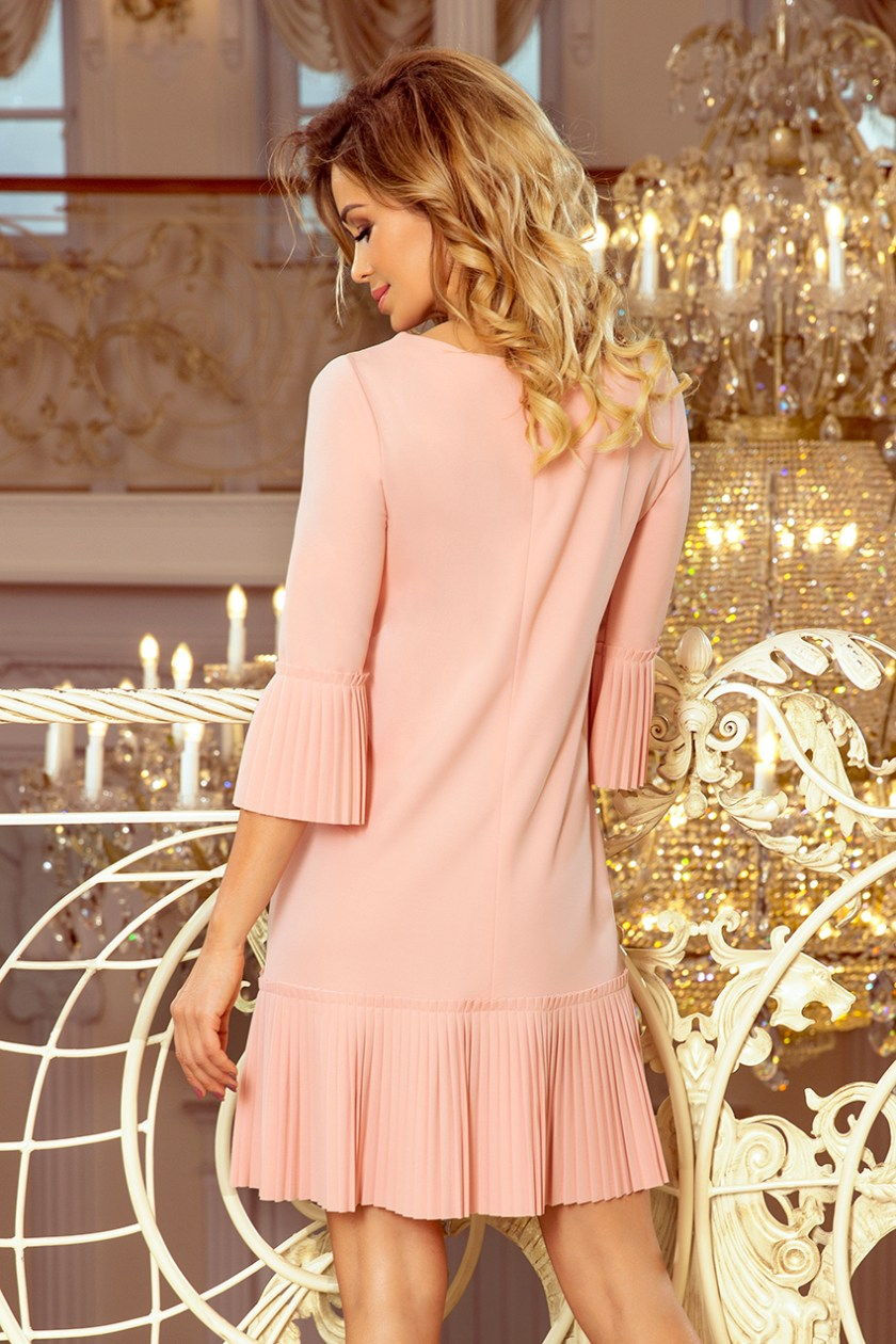 pleated pastel pink back -