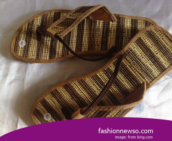 The Craftsmen Traditional Kelom Sandals In Province Papua Indonesia