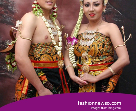 Some Type Of Clothing Typical Traditional Brides The Pangsi Banten In Indonesia