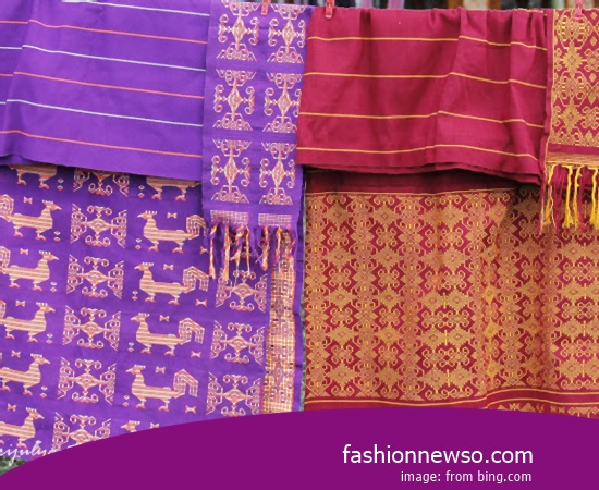 Sorts Motif Ulos Fabric Traditional Endek In Indonesia