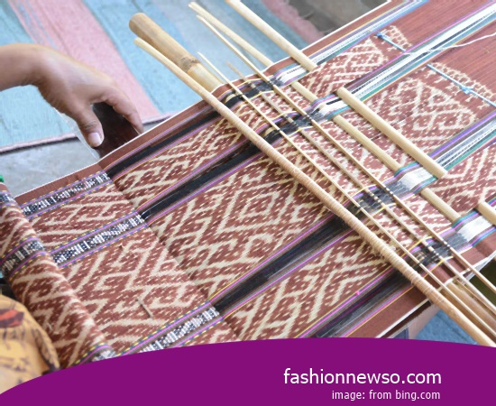 Sorts Type Fabric Songket Traditional Samarinda In Indonesia