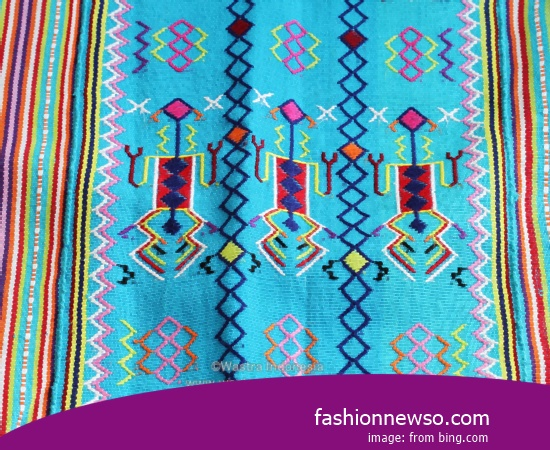 Sorts Motif Fabric Songket Traditional Nias In Indonesia