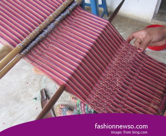 Sorts Type Woven Cloth Traditional Endek In Indonesia