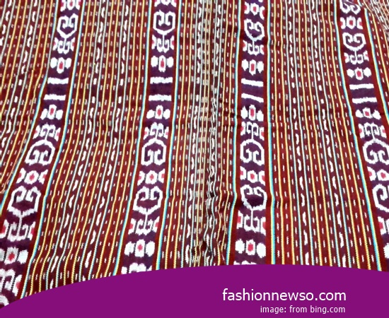 Multiple Type Ulos Fabric Traditional Typical Of Kendari In Indonesia