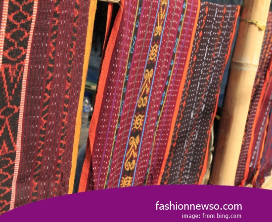 Sorts Models Fabric Songket Traditional Manggarai In Indonesia