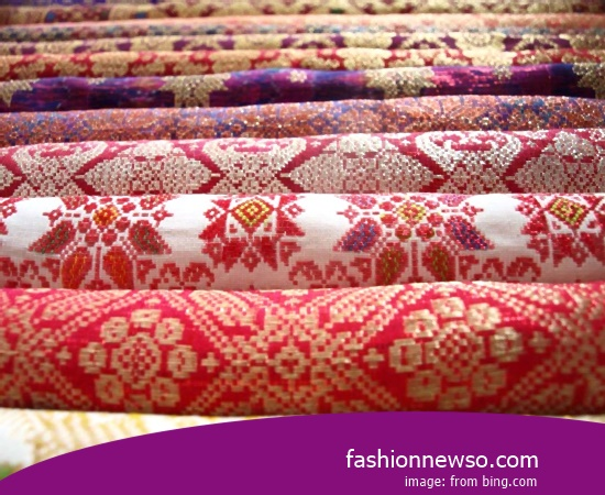 Sorts Motif Fabric Songket Traditional Makassar In Indonesia