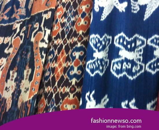 Multiple Motif Fabric Songket Traditional Ulee Balang In Indonesia