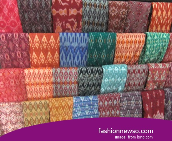 Multiple Motif Ulos Fabric Traditional Typical Lombok In Indonesia