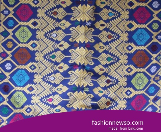 Multiple Models Fabric Songket Traditional Yogyakarta In Indonesia