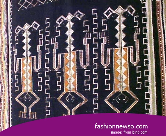 Sorts Motif Cloth Grinsing Traditional Ngada In Indonesia
