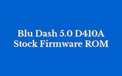 Blu Dash 5.0 D410A