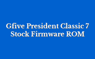 Gfive President Classic 7