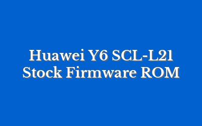 Huawei Y6 SCL-L21