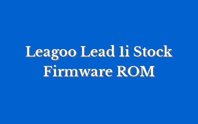 Leagoo Lead 1i