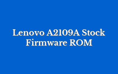 Lenovo A2109A