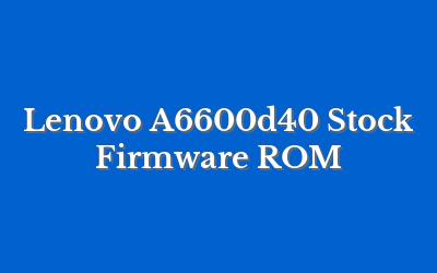 Lenovo A6600d40