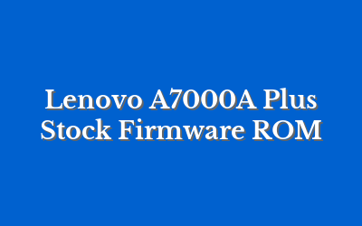 Lenovo A7000A Plus