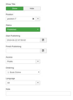 Installation Instructions for the Freetobook Joomla Online