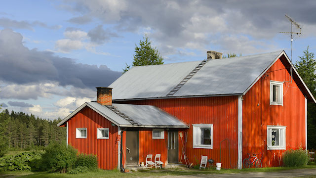 Wooden house in Finland