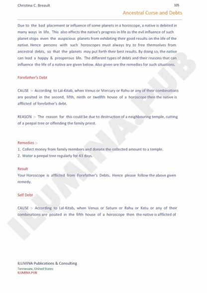 Vedic Horoscope Report - Page 105