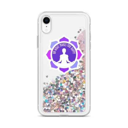 Inspirational Liquid Glitter Case for iPhone XR, Pink