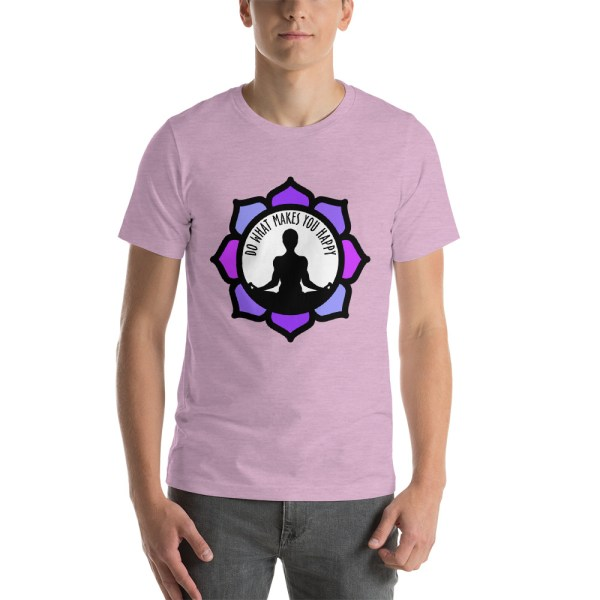Motivational Short-Sleeve Unisex T-Shirt, Lilac