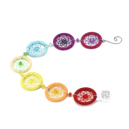 Chakra Dreamcatcher with Crystal Ball